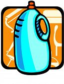 Liquid detergent.Pantone colors.Vector illustration