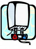 Water heater.Pantone colors.Vector illustration