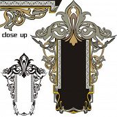 A pack of 2 very CLEAN and EXQUISITE panels with ornamental elements. All vectors are ready for viny