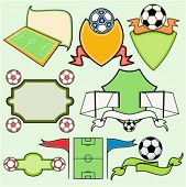 A set of 8 vector sport templates of soccer.Ready-to-cut.Pantone colors.