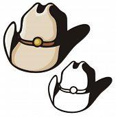 Ilustración de un sombrero de vaquero.