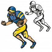 American football player. Vector illustration