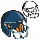 American football helmet. Vector illustration