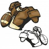 American football equipment. Vector illustration