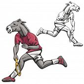 Donkey Tennis Mascot. Great for t-shirt designs, school mascot logo and any other design work. Ready
