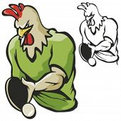 Rooster Table Tennis Mascot for sport teams. Great for school mascot logo and any other design work.