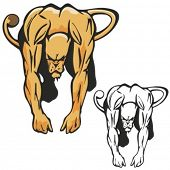 Lion Mascot for sport teams. Great for t-shirt designs, school mascot logo and any other design work