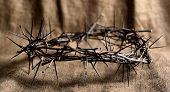 Crown Of Thorns On Burlap