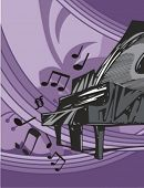 picture of rainbow piano  - Musical Background - JPG