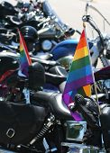Pride Flag With Motorcycles