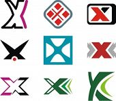 image of letter x  - Alphabetical Logo Design Concepts - JPG