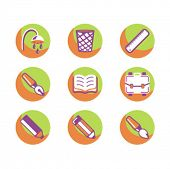 Exclusive Series of Education Icons. Check my portfolio for much more of this series as well as thou