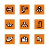 Exclusive Series of Hotel and Restaurant Icons. Check my portfolio for much more of this series as w