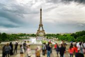 The View Of The Eiffel Tower, Paris, France. poster