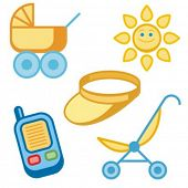 Baby icons series. Check my portfolio for much more of this series.