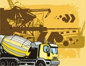 Construction truck background series. Check my portfolio for much more of this series as well as tho