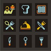 Restaurant icons set. Check my portfolio for much more of this series as well as thousands of simila