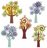 Vector fancy tree designs. Check my portfolio for more of this series as well as thousands of other