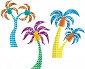Vector palm tree designs in a funny style. Check my portfolio for more of this series as well as tho