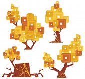 Vector goldentype tree designs. Check my portfolio for more of this series as well as thousands of o
