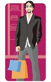 Shopping vector illustration series. Shopping man. Check my portfolio for much more of this series a