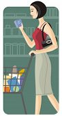 Shopping vector illustration series. Shopping girl. Check my portfolio for much more of this series as well as thousands of other great vector items.