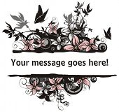 Floral vector frame with place for your text.