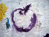 Grafitti Stencil Purple Apple