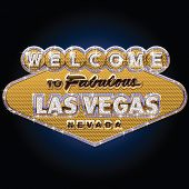 Diamond and pure gold Las vegas sign