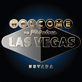 Pure black and gold richest Las vegas road sign