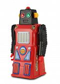 Black And Red Tin Toy Robot