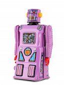 Robot de juguetes de hojalata de lavanda