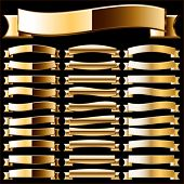 Ribbon set of pure gold