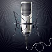 Vector illustration of modern microphone