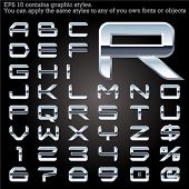 picture of iron star  - Chrome typeface Gray - JPG