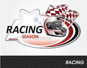 racing sign - vector illustration