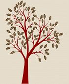 red tree vector