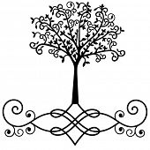 graphic tree with stylized roots vector  (use together or separately)