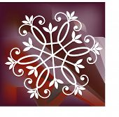 snowflake vector modern colored background is gradient mesh