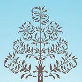 folkart tree vector
