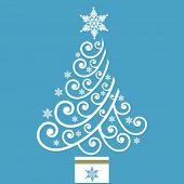 fun coil christmas tree vector
