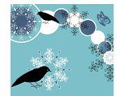 aves com flocos de neve 2