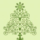 green funky tree