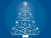 calligraphy christmas tree