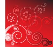 coil elements on red background