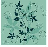 summer vine with funky circles - use together or separately