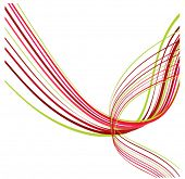 candycane lines  ribbon - christmas colors