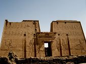 pic of ptolemaic  - gigantic carvings at temple of edfu egypt - JPG