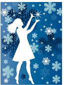 girl with stars and snowflakes