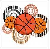 basketball with striped circles